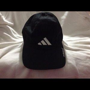 Adidas Adjustable Black Cotton Hat/Cap